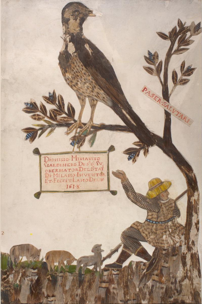 Feather Book of Dionisio Minaggio, Title Page